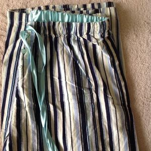 Flannel pajama bottoms lounge pants striped